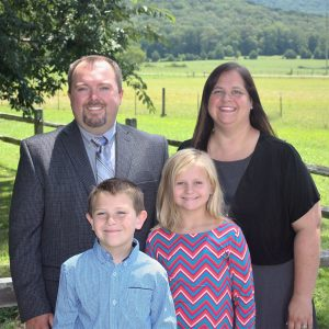 Pastor Justin Hill and family